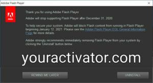 Adobe Flash Player Uninstaller 32.0.0.453 Crack